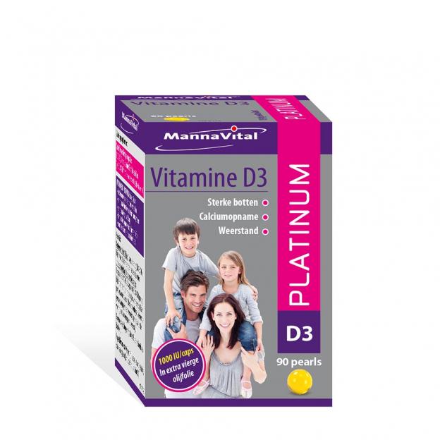 Mannavital Vitamine D3 Platinum pearls