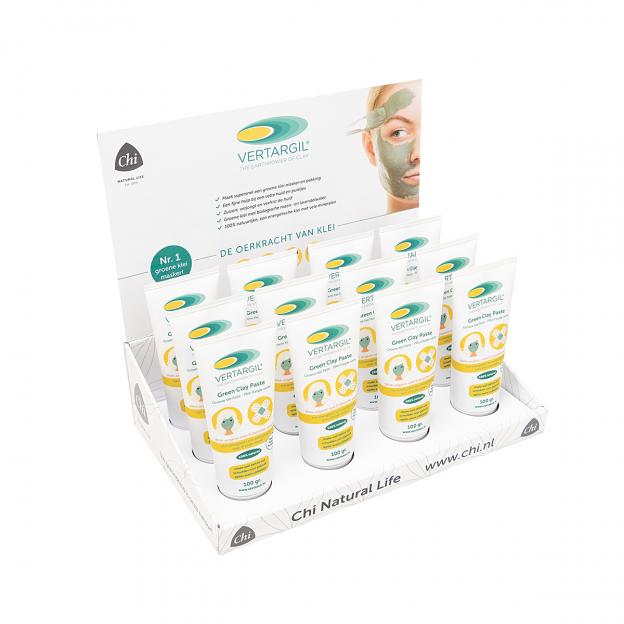 Display: Vertargil groene klei pasta